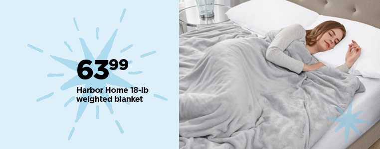63.99 Harbor Home 18-lb Weighted Blanket