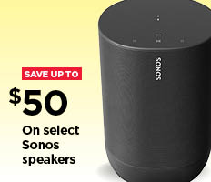 $50 on Select Sonos Speakers