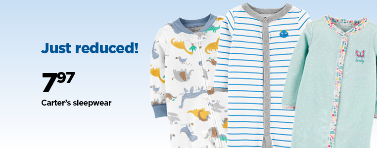 Just Reduced.  Carter's Sleepwear $ 7.97