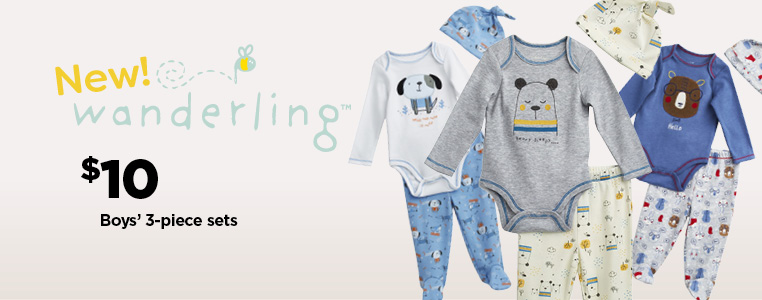 Wanderling Boys' 3-Piece Sets