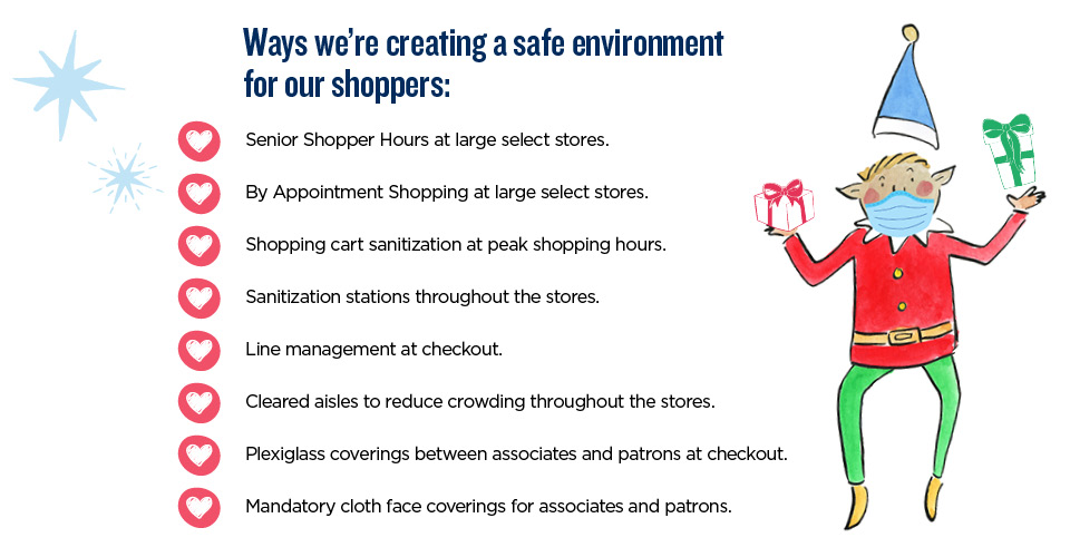 The NEX is creating a safe environment for our shoppers