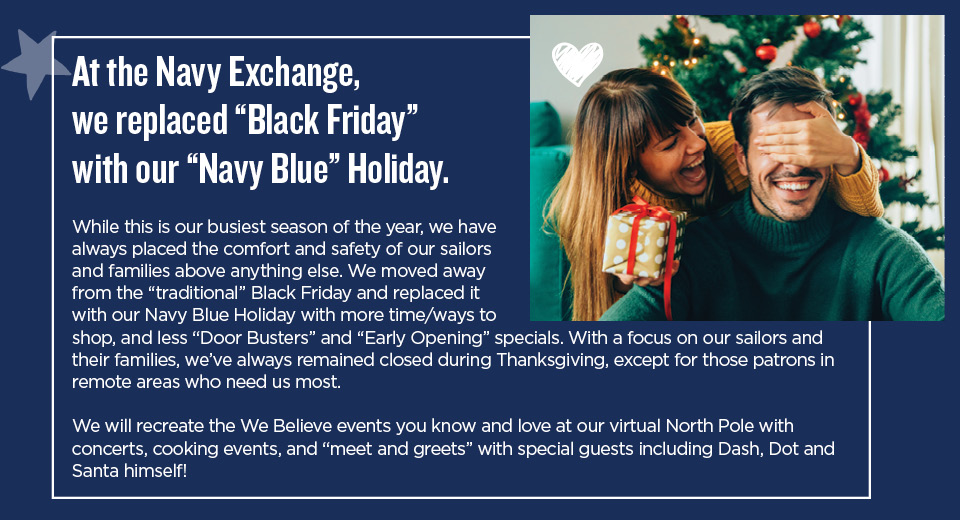 Black Friday is Navy Blue Friday at NEXCOM