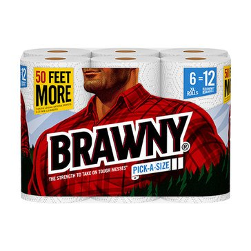 Brawny Select-A-Size Paper Towels 6XL Rolls