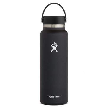 Hydro Flask 40 oz Wide Mouth with Flex Lid - Black