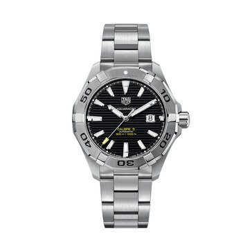 Tag Heuer Men's Aquaracer Auto Black Dial Stainless Steel Bracelet Watch, 43mm