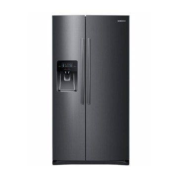 Samsung 24.5-Cu.Ft. Side By Side Refrigerator, Black Stainless Steel (RS25H5111SG)
