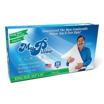 As Seen On TV MyPillow King Classic Pillow, 18.5