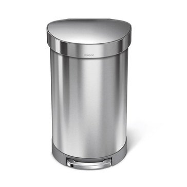 simplehuman 45 Liter Semi Round Step Can, J Liner