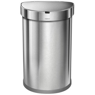 simplehuman 45 Liter Semi-Round Sensor Can with Liner Pocket