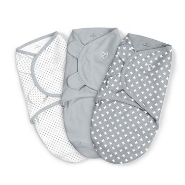 Summer™ SwaddleMe® Original Swaddle 3-Pack Criss Cross Polka Dot (SM)