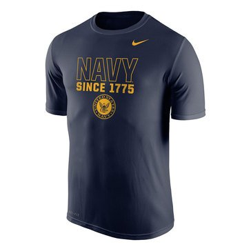 Nike Men's USN Dri-Fit Legend Tee with Navy Since 1775