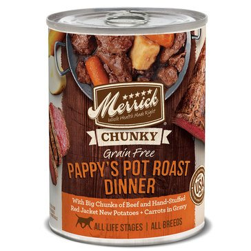 Merrick Chunky Pappy's Pot Roast Dinner 12.7 oz. Adult Wet Dog Food