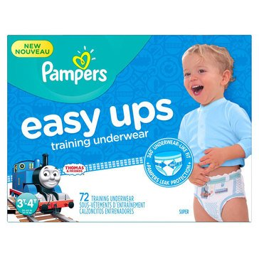 Pampers Easy Ups Super Pack 72-Count Training Underwear Boys' Size 3T/4T