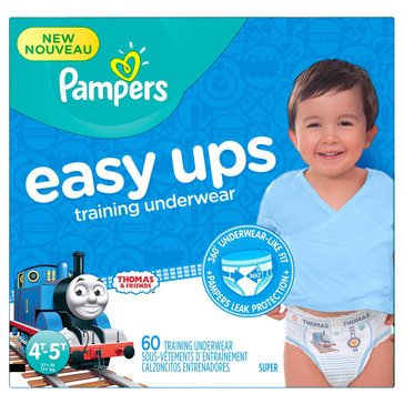 Pampers Easy Ups Super Pack 60-Count Training Underwear Boys' Size 4T/5T