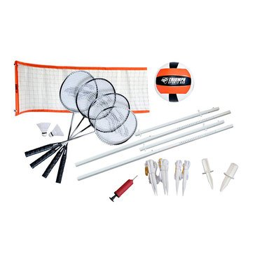 Triumph Sports Advanced Volleyball & Badminton Combo Set