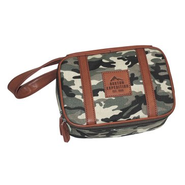 Buxton Men's Expedition Huntington Gear Top Zip Travel Kit - Camo