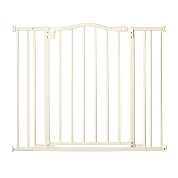 North States Arched Auto Easy Close Gate, White