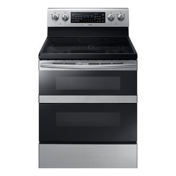 Samsung 5.9-Cu.Ft. Freestanding Electric Range with Flex Duo, Stainless Steel (NE59M6850SS)