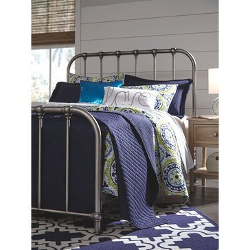 Signature Design by Ashley Nashburg Twin Metal Headboard/Footboard/Rails