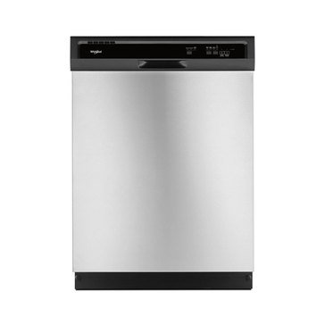 Whirlpool Front Control Built-In Dishwasher, Stainless Steel (WDF330PAHS)