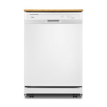 Whirlpool Heavy-Duty Portable Dishwasher, White (WDP370PAHW)