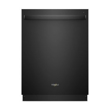 Whirlpool Stainless Steel Tub Dishwasher with Third Level Rack, Black (WDT970SAHB)