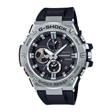 Casio Men's G-Shock Solar Steel/Black Smartwatch