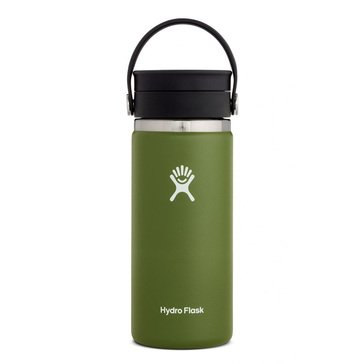Hydro Flask 16 OZ Wide Mouth Hydration Bottle with Flip Lid - Olive