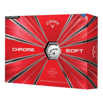 Callaway Chrome Soft 18 Golf Ball, 12-Pack
