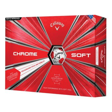 Callaway Chrome Soft Truvis Golf Balsl, 12-Pack