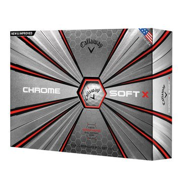Callaway Chrome Soft X Golf Balls, 12-Pack