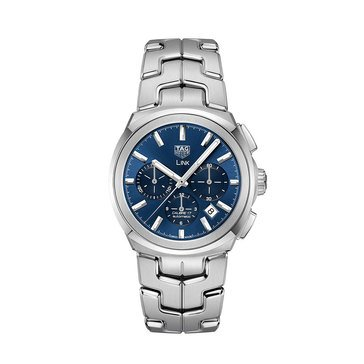 Tag Heuer Men's Link Auto Chrono Blue Dial Watch, 41mm