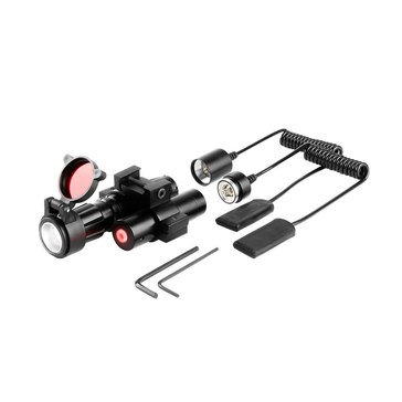 iProtec 120 Lumen Rail-Mounted Firearm Light with Red Laser