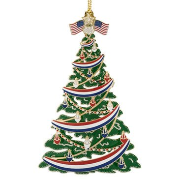 Chemart Classic Patriotic Christmas Tree Ornament
