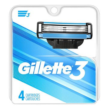Gillette 3 4-Count Cartridge Pack