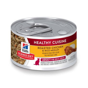 Hill's Science Diet Feline Chicken and Rice Medley Adult Wet Cat Food
