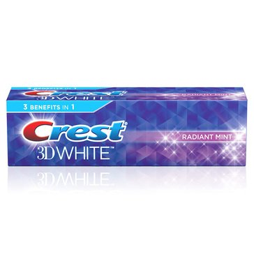 Crest 3D White Radiant Mint Toothpaste, 4.1oz