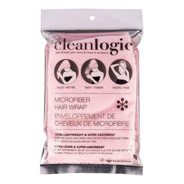 Cleanlogic Microfiber Hair Wrap - Light Pink