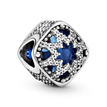 Pandora Sterling Silver Glacial Beauty Swiss Blue Crystals Charm