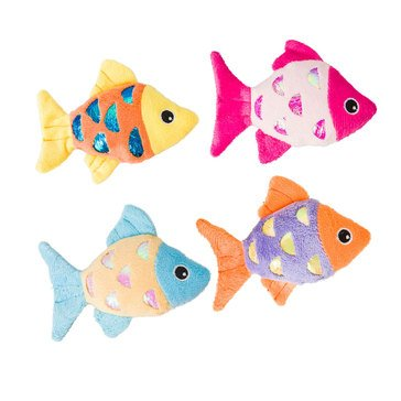 Ethical Pet Shimmer Glimmer Fish with Catnip Cat Toy