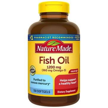 Nature Made Fish Oil Omega 1200 MG Softgels 150ct