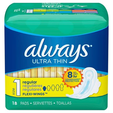 Always Thin Ultra with WIngs, 18 Count