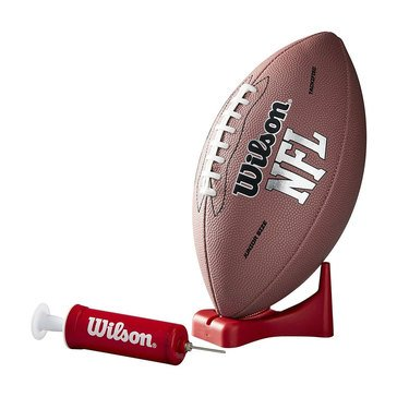 Wilson NFL MVP Youth Football W/ Pump & Tee