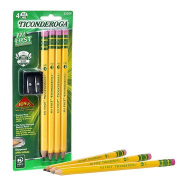 Dixon 4-Count My First Pencil With Sharpener