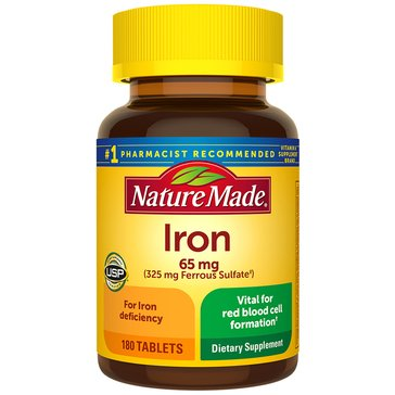 Nature Made Iron 65 MG 180ct