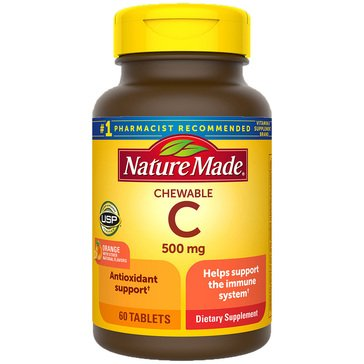 Nature Made Vitamin C 500 MG Chewable Orange 60ct