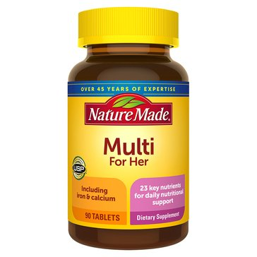 Nature Made Multi For Her with Iron & Calcium 90ct