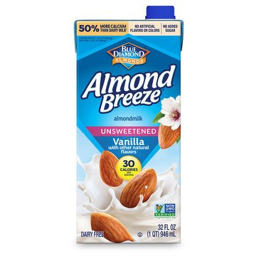 Blue Diamond Almond Breeze Vanilla Unsweet 32oz