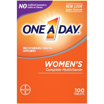One A Day Multivitamin's Women's 100ct