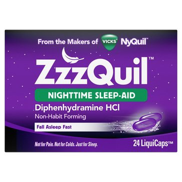ZZZQuil Nighttime Sleep Aid, 24 Count